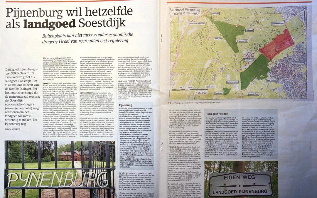 Pijnenburg wil hetzelfde als landgoed Soestdijk